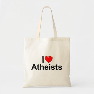 I Love (Heart) Atheists Tote Bag