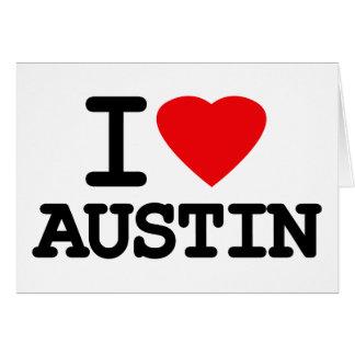 I Love Heart Austin Texas Card