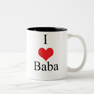 I Love (Heart) Baba Two-Tone Mug