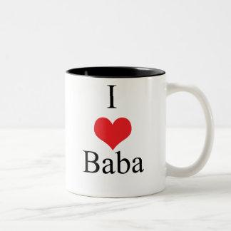 I Love (Heart) Baba Two-Tone Coffee Mug
