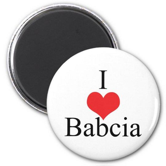I Love (Heart) Babcia Magnet