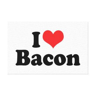 I Love Heart Bacon - Bacon Lover Canvas Prints