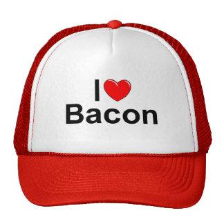 I Love Heart Bacon Mesh Hats