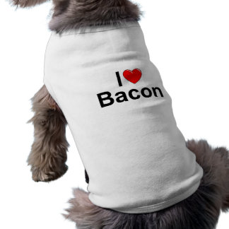 I Love (Heart) Bacon Sleeveless Dog Shirt