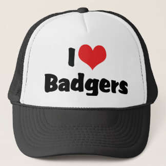 I Love Heart Badgers Trucker Hat