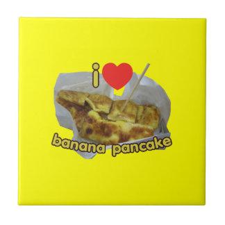 I Love (Heart) Banana Pancake ... Thai Street Food Tile