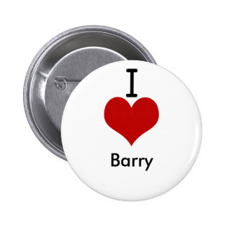 I Love (heart) Barry 6 Cm Round Badge