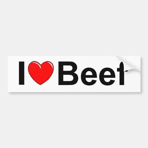 I Love (Heart) Beef Bumper Stickers