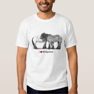 I Love (Heart) Belgians: Horses in Pencil Tshirt