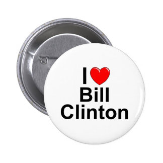 I Love (Heart) Bill Clinton 6 Cm Round Badge