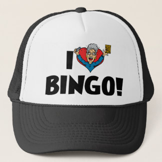 I Love Heart Bingo! - Bingo Lovers Trucker Hat
