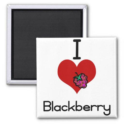 I love-heart blackberry magnet
