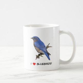 I Love (heart) Bluebirds Coffee Mug