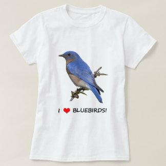 I Love (heart) Bluebirds T-Shirt