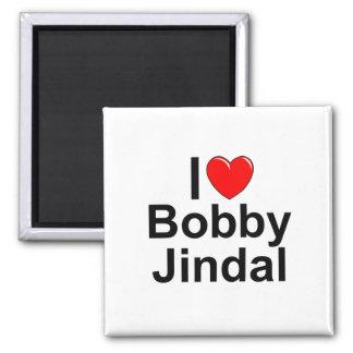 I Love (Heart) Bobby Jindal Square Magnet