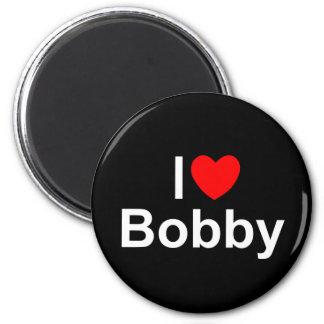 I Love (Heart) Bobby Refrigerator Magnet
