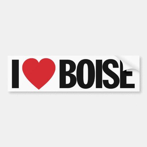 "I Love Heart Boise 11"" 28cm Vinyl Decal Bumper Stickers"