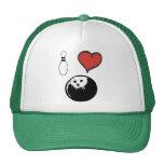 I Love (heart) Bowling Cap