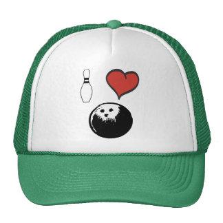 I Love heart Bowling Trucker Hat