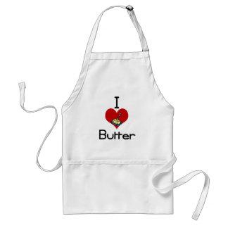 I love-heart butter aprons