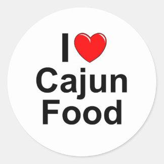 I Love (Heart) Cajun Food Sticker