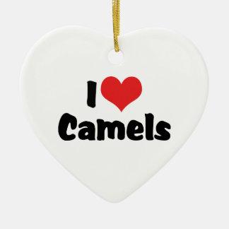 I Love Heart Camels Christmas Ornament