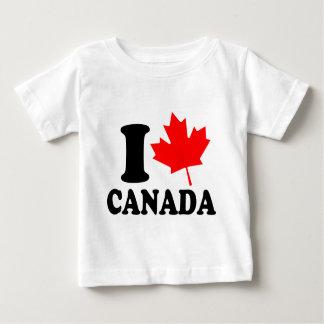 I Love Heart Canada Baby T-Shirt