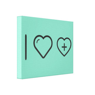 I Love Heart Gallery Wrapped Canvas