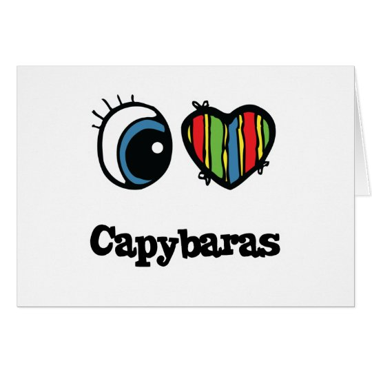I Love (Heart) Capybaras Card