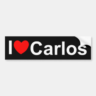 I Love (Heart) Carlos Bumper Sticker