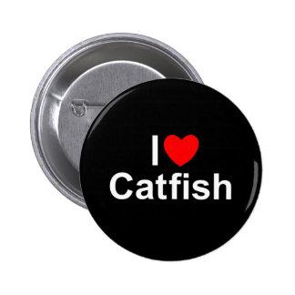 I Love (Heart) Catfish Pinback Buttons