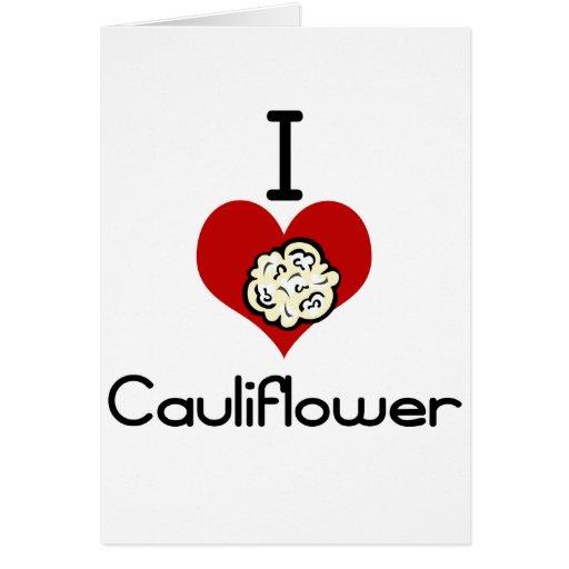 I love-heart cauliflower card