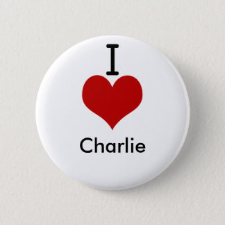 I Love (heart) Charlie 6 Cm Round Badge