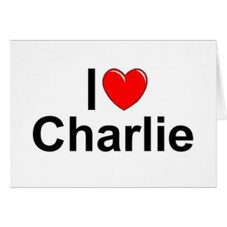 I Love (Heart) Charlie Greeting Card