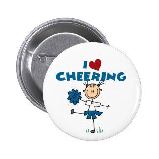 I Love (Heart) Cheering 6 Cm Round Badge