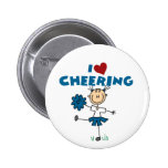 I Love (Heart) Cheering Pinback Button