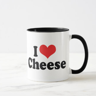I Love Heart Cheese - Dairy Lover Mug