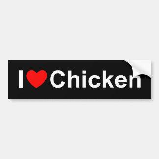 I Love (Heart) Chicken Bumper Sticker