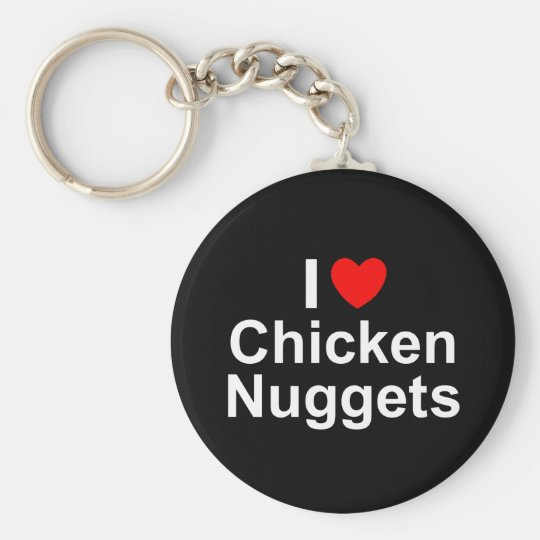 I Love (Heart) Chicken Nuggets Key Ring