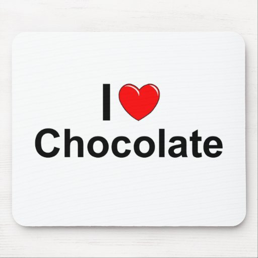 I Love (Heart) Chocolate Mouse Pad