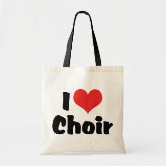 I Love Heart Choir Tote Bag