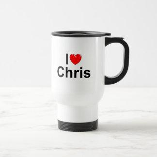 I Love (Heart) Chris Travel Mug