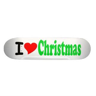 I Love (Heart) Christmas Skateboard