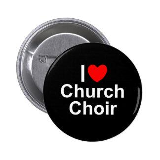I Love (Heart) Church Choir 6 Cm Round Badge