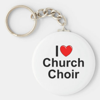 I Love (Heart) Church Choir Key Ring