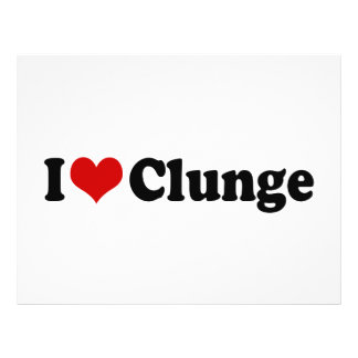 I LOVE {HEART} CLUNGE 21.5 CM X 28 CM FLYER