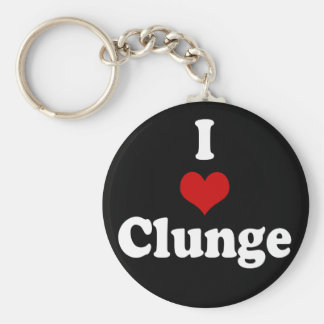 I LOVE {HEART} CLUNGE BASIC ROUND BUTTON KEY RING