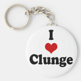 I LOVE {HEART} CLUNGE KEY RING
