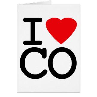 I Love Heart Colorado Greeting Card