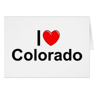 I Love (Heart) Colorado Greeting Card